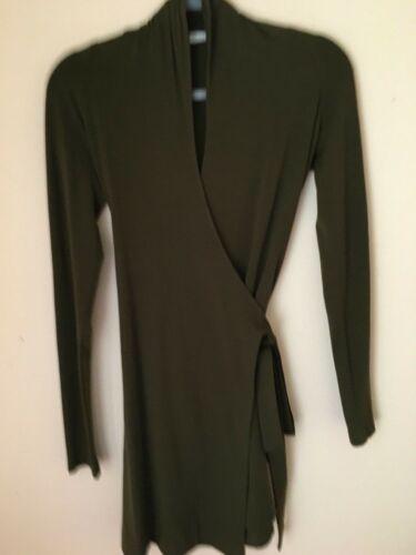 Womans Diane Von Furstenberg DVF Wrap Dress Hunter