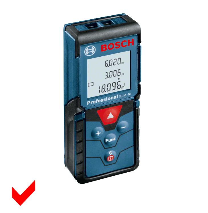 Bosch GLM 40 Professional Laser Entfernungsmesser bis 40 Meter 0601072900