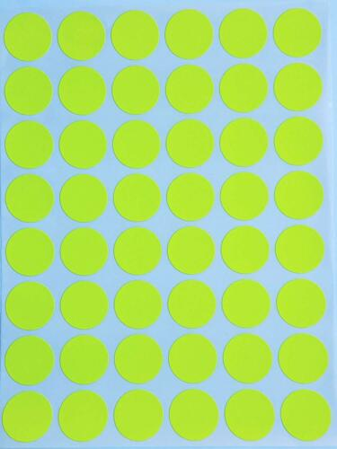 """Round Stickers ~3//4/"""" 10 Colors Available 336 Pack 7 Sheets 0.7 Inch Dots 17mm"""