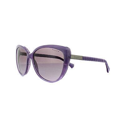 Ralph by Ralph Lauren Sunglasses 5185 13178H Violet Horn Grey Purple Gradient