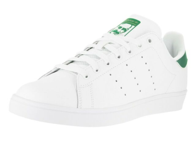new concept 742f2 eed34 Adidas Mens Stan Smith Vulc Sneakers Future White/Green 7 New