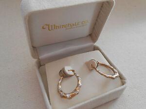 Lovely Yellow White 10 Karat Gold Hoop Earrings 898906 Ebay