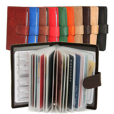 Leder Visitenkarten Kreditkarten Ausweismappe Karten Etui Damen Herren 2 Modelle