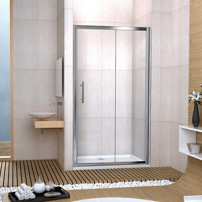 Bathroom Sliding Shower Door Enclosure Cubicle 6mm Safety Glass Single Door