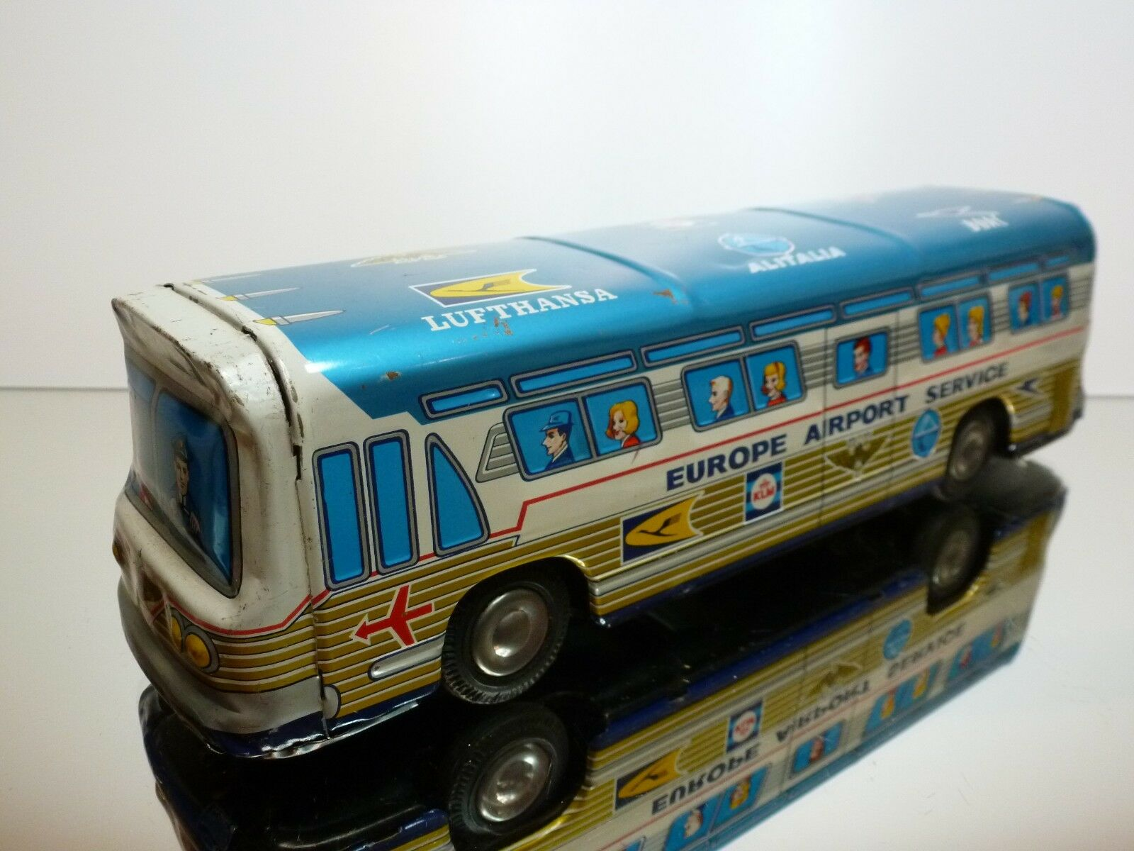 TAIYO JAPAN BUS EUROPE AIRPORT AIRPORT AIRPORT SERVICE - blu + bianca  L28.5cm RARE - FRICTION a6e891
