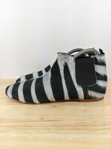Collection Privee Black Zebra Pony Hair Chelsea B… - image 1