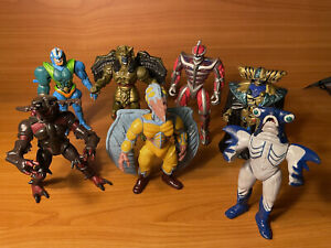 """8"""" EVIL SPACE ALIENS LOT - MMPR MIGHTY MORPHIN POWER RANGERS - BANDAI 1993 - 96"""