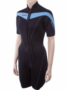 Henderson-Thermoprene-3mm-Shorty-Women-039-s-Front-Zip-size-16-Wetsuit-EUC