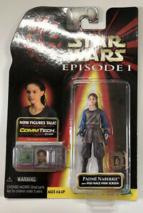 NEW-Star-Wars-Padme-Naberrie-with-Pod-Race-View-Screen-Collection-1-Hasbro-1998