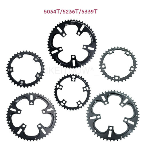 DRIVELINE Chainring Road Bike 53//52//50//39//36//34T 7075//T6 BCD 110MM Black,11Speed