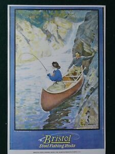 Bristol-Fishing-Rods-Advertising-Poster-Philip-Goodwin-Artist-Early-1900-039-s