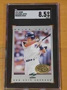 1996-Score-Premium-Stock-SGC-8-5-Derek-Jeter-Rookie-True-RC-Newly-Graded-PSA-BGS