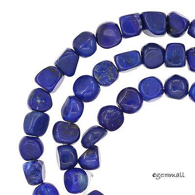 "16"" Lapis Lazuli Nugget Potato Beads ap. 7mm Grade A #72081"