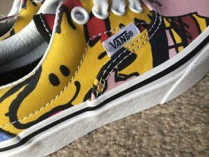 Vans Yellow & Red Era Peanuts The Gang Boys Girls Junior Trainers UK10 BRAND NEW