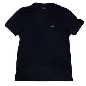 Lacoste-Herren-Classic-Rundhalsausschnitt-Lightweight-Technical-T-Shirt-Navy-X-Large