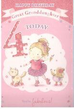 Item 3 4 Year Old Birthday Card For SonDaughterNephewNieceGrandson Granddaughter