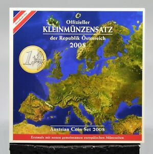 AUTRICHE 2008 : BU 8 pièces - 1 cent à 2 euro