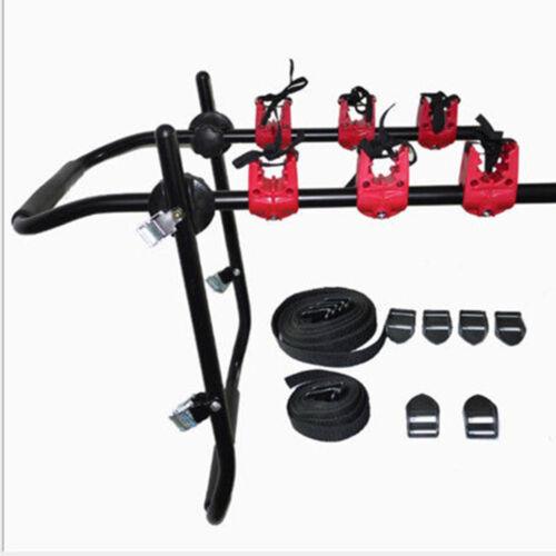 Car Heavy Duty 3-Bike Trunk Mount Rack Bicycle Carrier Adjustbale Rubber Buckles