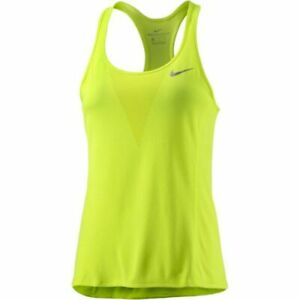 Details about Nike Women's Zonal Cooling Relay Tank Top NEW AUTHENTIC Yellow 831506 702
