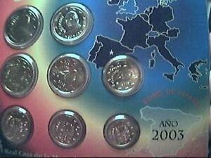 2003 Div. Spagna 8 Monete Euro Espagne Spanien Espana Ferme En Structure