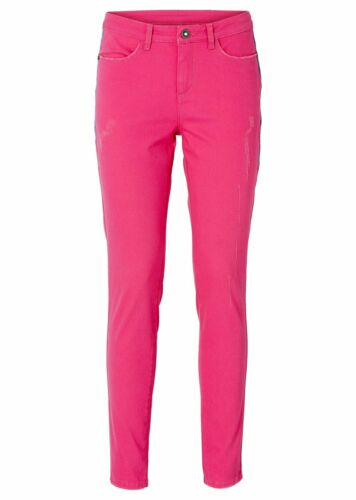 Bodyflirt Pantalon Jeans pour Femmes Chino Stretch Coupe Skinny Rose Foncé
