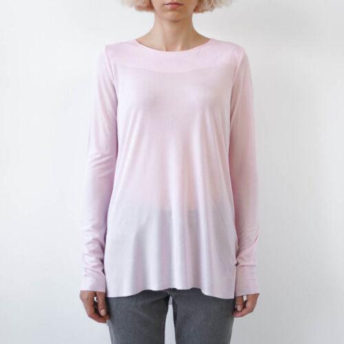 HOF115:COS Top bluse geschichtet cupro hellrosa Layered back top pale pink M
