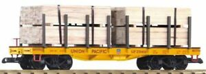 PIKO-G-Scale-Up-Wagon-plat-avec-bois-charge-38757