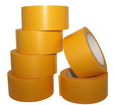 6 Rollen Goldband Abklebeband Malerband 50mm x 50m Klebeband Fine Line Tape