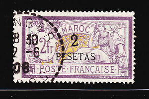 COLONIES-FRANCAISES-MAROC-N-17-oblitere-canceled-TB-cote-113-00