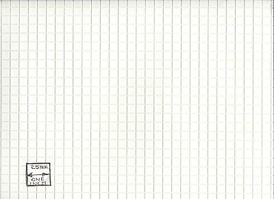 "White Tile Floor Sheet FF60610 Plastic Handley House 1"" scale doll 1pc"