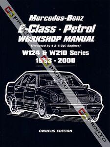 workshop repair manual mercedes benz e class w124 w210 e200 e220 rh cafr ebay ca 2015 Mercedes E230 mercedes e230 w124 repair manual