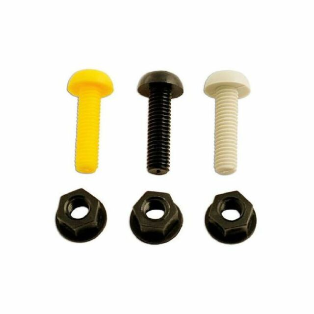 """1x Connect Number Plate Fixing 3/4"""" White Screws/Nuts Pk 100 Work Home DIY"""