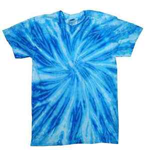 3d80f24203724f Tie Dye T-Shirts Neon Blue Berry Adult S M L XL 2XL 3XL Cotton ...
