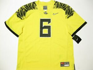 info for 4fee6 744f2 Details about Oregon Ducks #6 Yellow Youth Large Nike Game Football Jersey