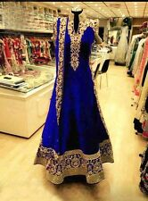 Bollywood Pakistani Indian velvet Salwar Kameez Anarkali Gown Wedding wear dress