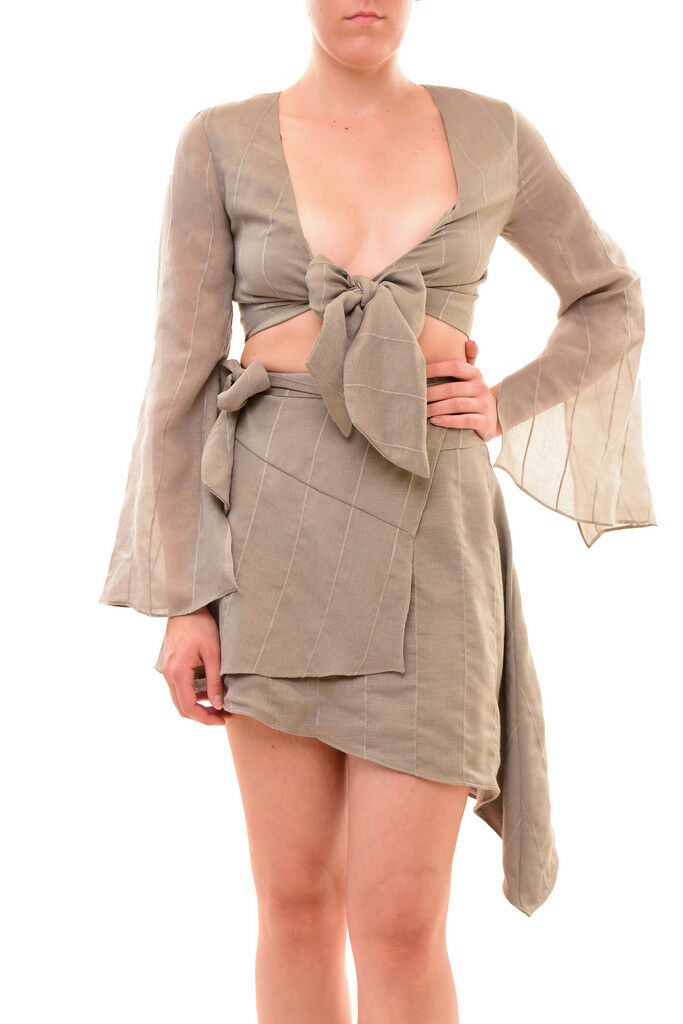 Finders Keepers Stylish Sexy Playful Sanctuary Top Khaki S RRP  BCF79