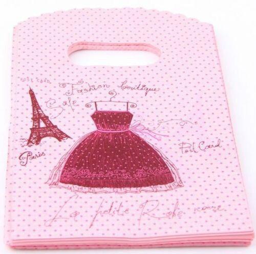 90-100pcs Pretty Plastic Jewelry Gift Bags 15x9cm small T50