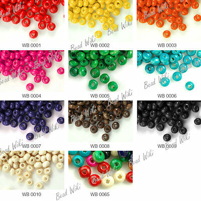 1380pcs Round Wooden Wood Spacer Beads Jewelry Making Findings 3x4mm Free Ship