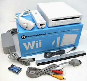 Nintendo-Wii-WHITE-Video-Game-Console-System-Bundle-Online-RVL-001-GameCube-Port