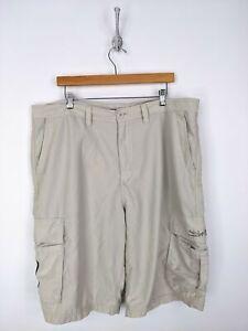 Vintage-Quiksilver-Cargo-Beach-Shorts-Men-Size-40-Light-Gray-White-Board-Swim