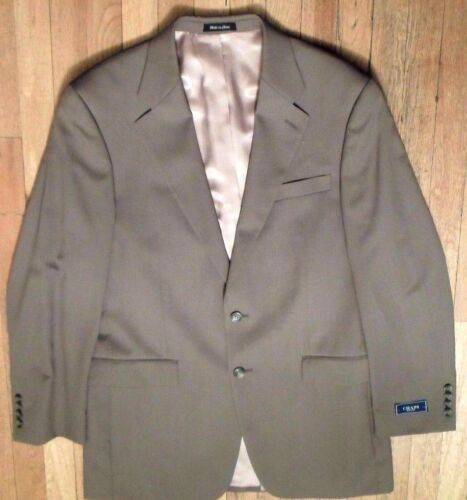 NWT CHAPS by Ralph Lauren, Taupe Sport Coat Size 40-Long, 100% Fine Wool (SC-85)