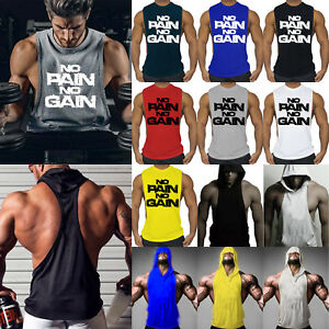 2e13546820bf71 Herren Muskelshirt Tank Tops Gym Fitness Sports Weste T-Shirts ...
