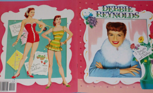 DEBBIE REYNOLDS Vintage Reproduction Paper Dolls w// Lovely 1950s Fashions