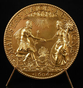 Medal-1977-Henri-IV-and-Marie-Medici-Union-Royal-of-Husband-56-mm-1604