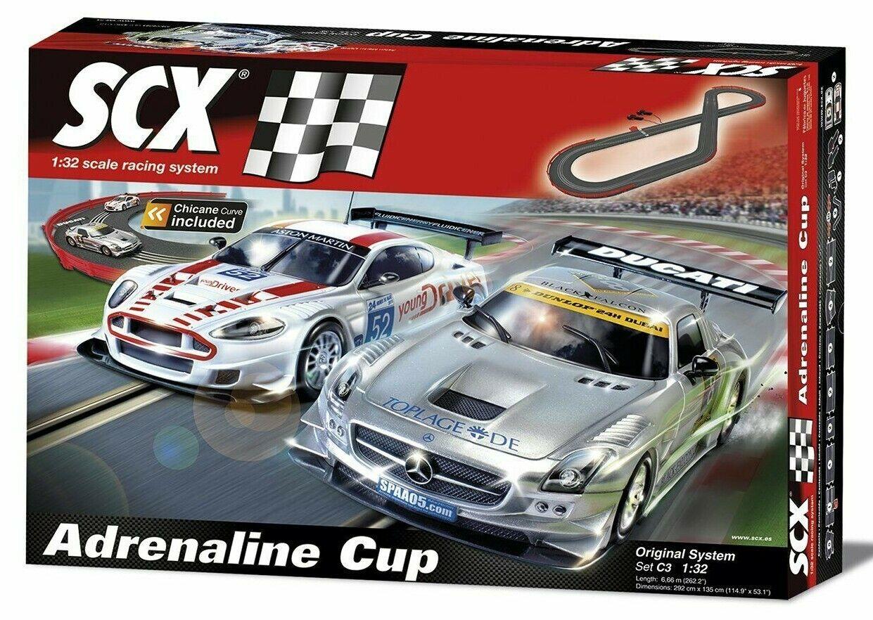 Scx C3 adrenalina Taza 1 32 Slot Coche Set Mercedes Aston Martin A10130X5U0-Nuevo