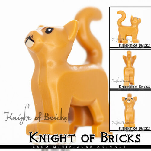LEGO Minifigure Animal Cat Dark Brown Orange Gray White Belville Flesh