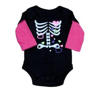 3335ef7f7 Fade Glory Infant Girl Black Pink Skeleton Creeper Halloween ...