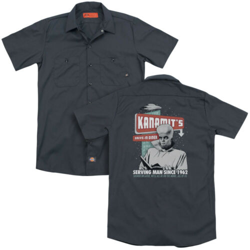 Twilight Zone TV Show KANAMIT/'S DINER Serving Man Dickies Work Shirt All Sizes