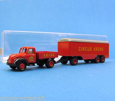 Brekina H0 4257 MAGIRUS MERCUR Hängerzug Circus Krone LKW OVP HO 1:87 Zirkus