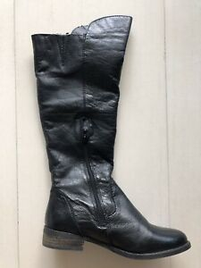 3d20a2f5bdf Details about Steve Madden Womens Shawny Black Leather Boots Size 7.5
